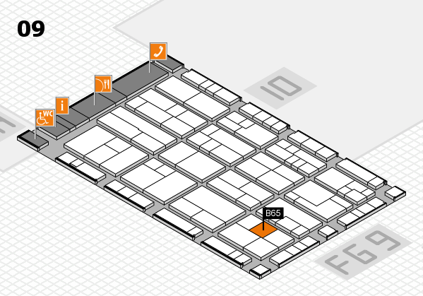 K 2016 Hallenplan (Halle 9): Stand B65