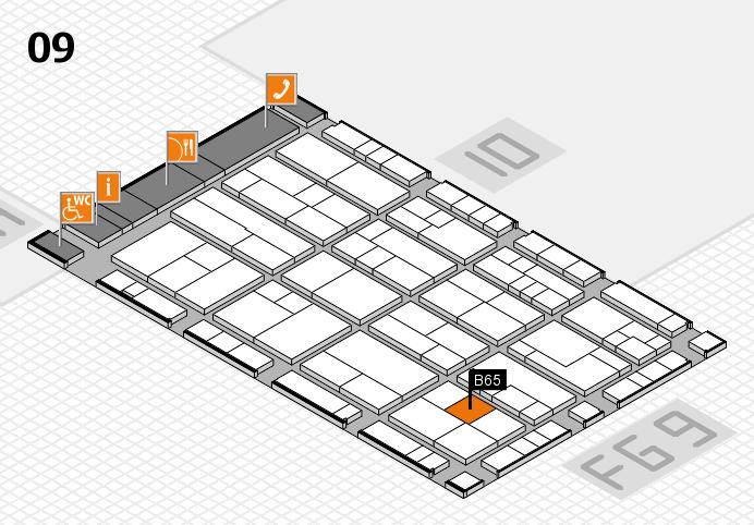 K 2016 hall map (Hall 9): stand B65