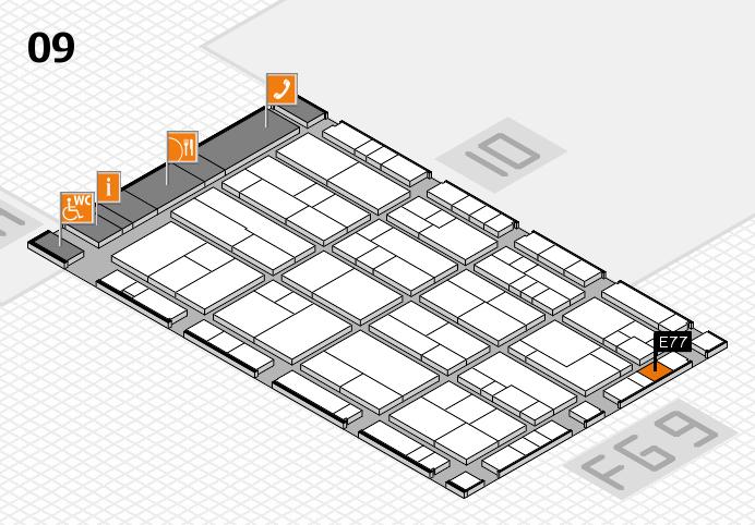 K 2016 hall map (Hall 9): stand E77