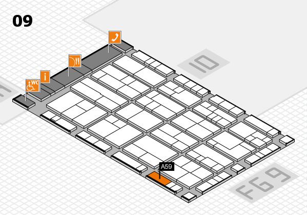 K 2016 hall map (Hall 9): stand A59