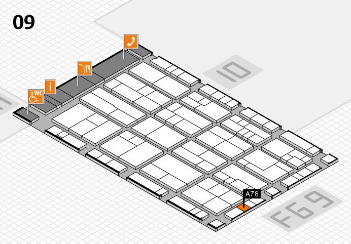 K 2016 hall map (Hall 9): stand A78