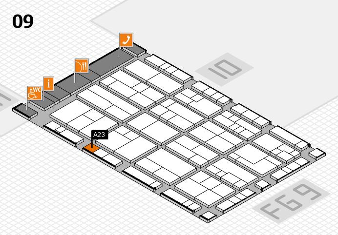 K 2016 hall map (Hall 9): stand A23