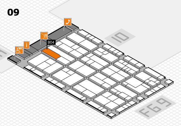 K 2016 hall map (Hall 9): stand B04
