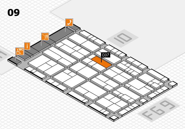 K 2016 Hallenplan (Halle 9): Stand D37