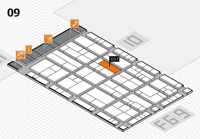 K 2016 hall map (Hall 9): stand D37