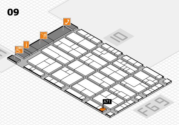 K 2016 hall map (Hall 9): stand A71