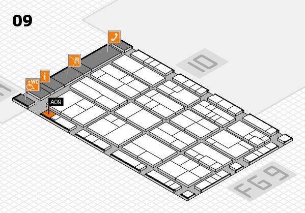 K 2016 hall map (Hall 9): stand A09