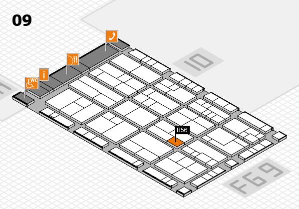 K 2016 hall map (Hall 9): stand B56