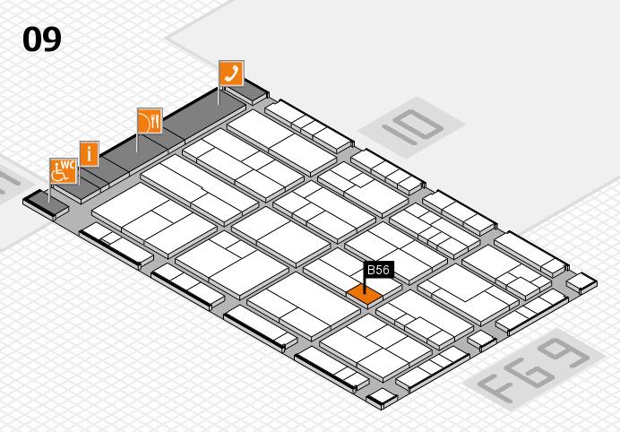 K 2016 Hallenplan (Halle 9): Stand B56