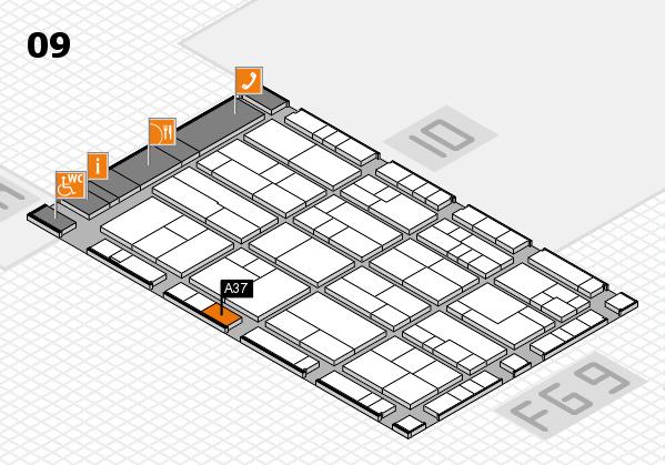 K 2016 hall map (Hall 9): stand A37