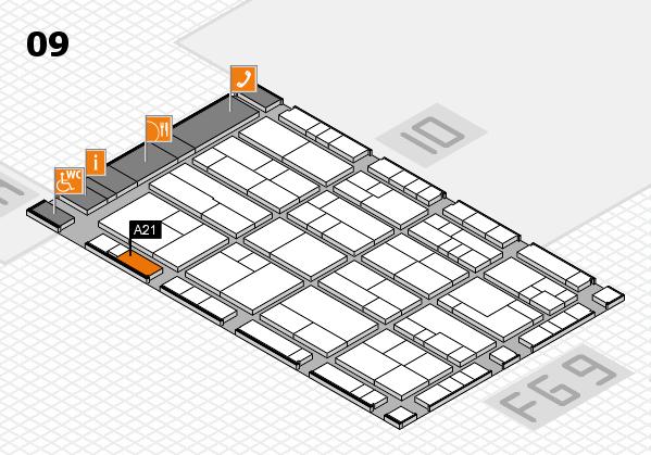 K 2016 hall map (Hall 9): stand A21