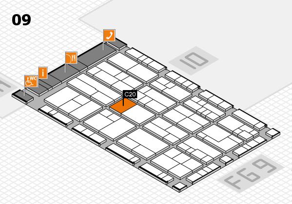 K 2016 hall map (Hall 9): stand C20