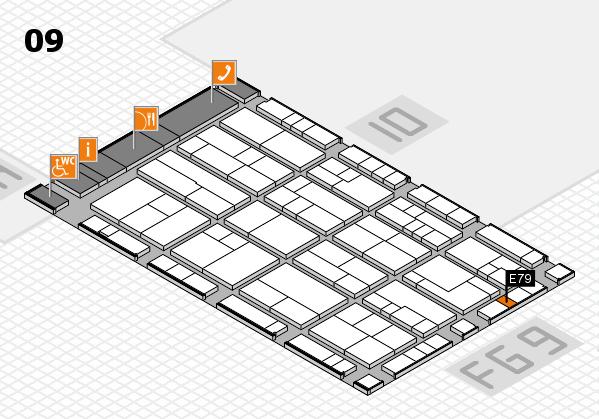 K 2016 hall map (Hall 9): stand E79