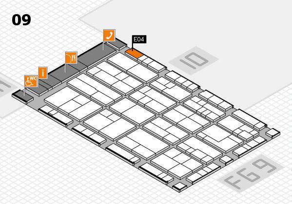 K 2016 hall map (Hall 9): stand E04
