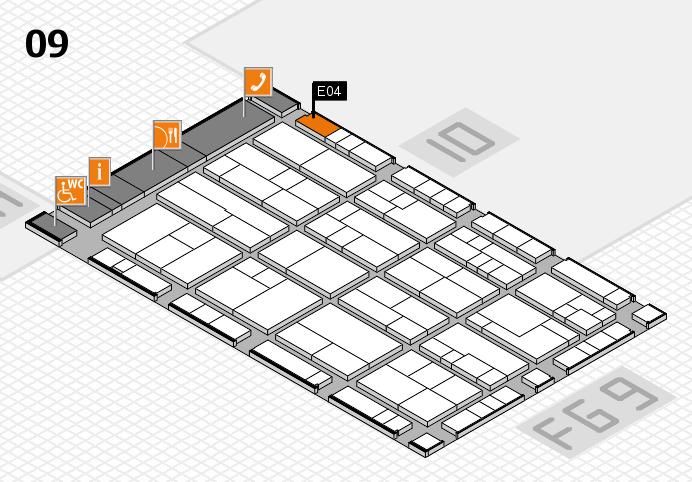 K 2016 Hallenplan (Halle 9): Stand E04