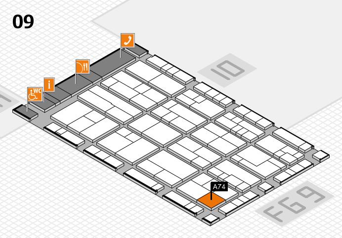 K 2016 Hallenplan (Halle 9): Stand A74