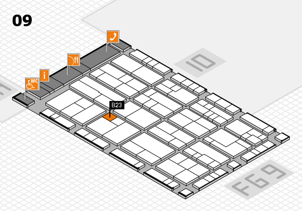 K 2016 hall map (Hall 9): stand B23