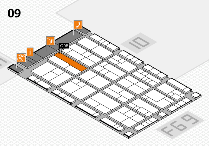 K 2016 hall map (Hall 9): stand C05
