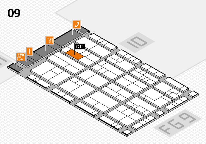 K 2016 hall map (Hall 9): stand C12