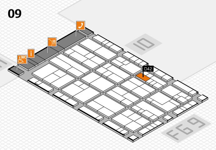 K 2016 hall map (Hall 9): stand D42