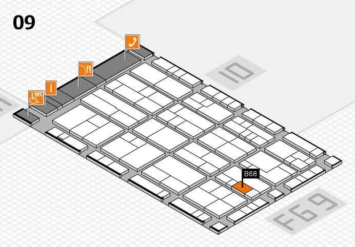 K 2016 hall map (Hall 9): stand B68