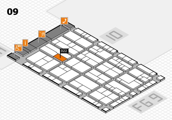 K 2016 Hallenplan (Halle 9): Stand B22