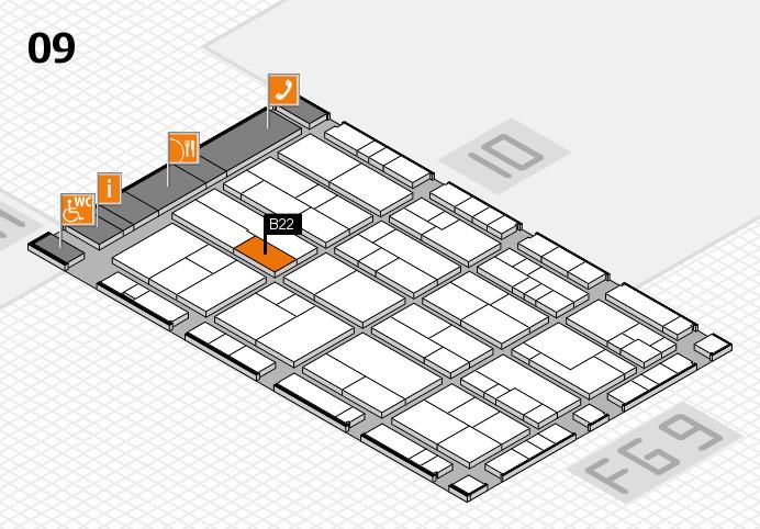 K 2016 hall map (Hall 9): stand B22