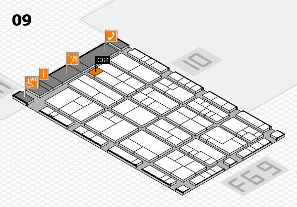K 2016 hall map (Hall 9): stand C04