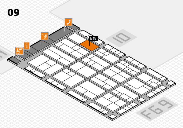 K 2016 hall map (Hall 9): stand E19