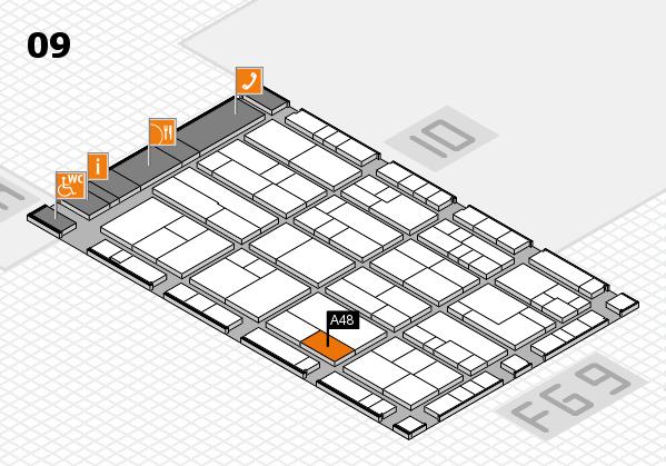 K 2016 Hallenplan (Halle 9): Stand A48