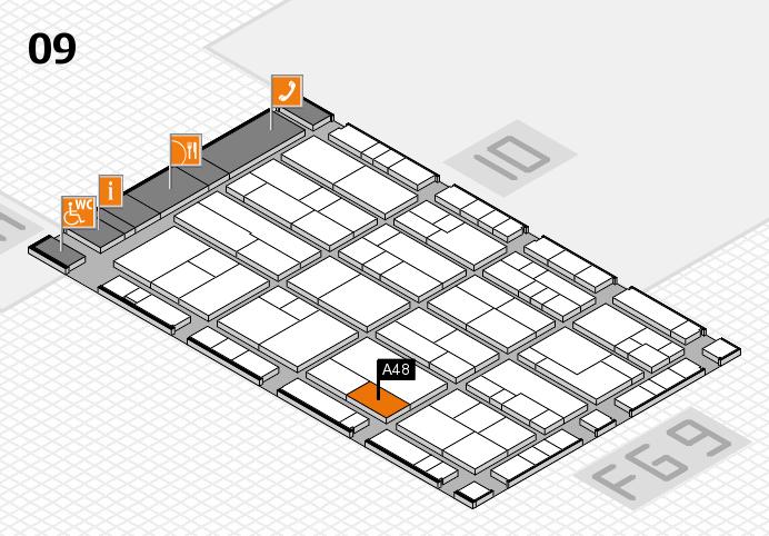 K 2016 hall map (Hall 9): stand A48