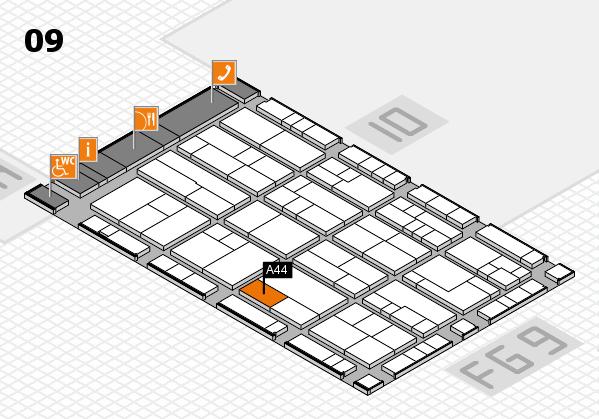 K 2016 Hallenplan (Halle 9): Stand A44