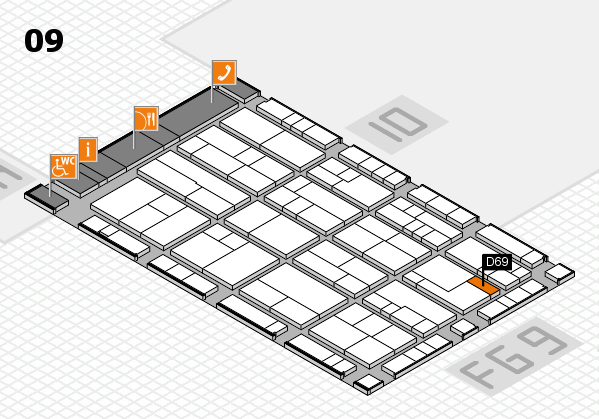 K 2016 Hallenplan (Halle 9): Stand D69