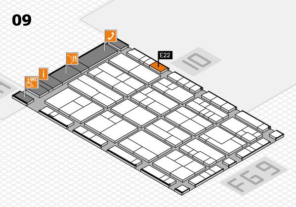 K 2016 hall map (Hall 9): stand E22