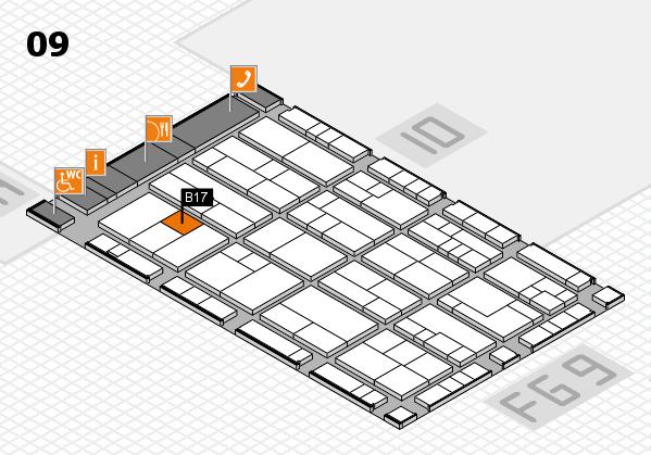 K 2016 hall map (Hall 9): stand B17