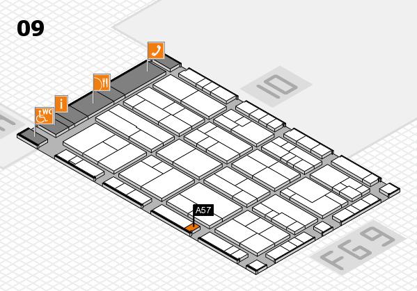 K 2016 Hallenplan (Halle 9): Stand A57