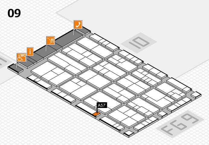 K 2016 hall map (Hall 9): stand A57