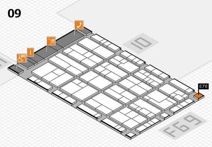 K 2016 hall map (Hall 9): stand E76