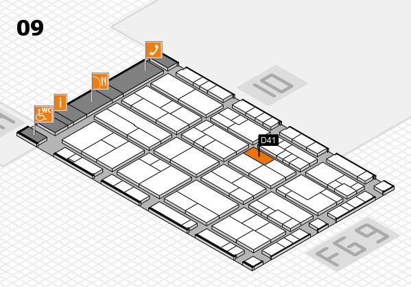 K 2016 Hallenplan (Halle 9): Stand D41