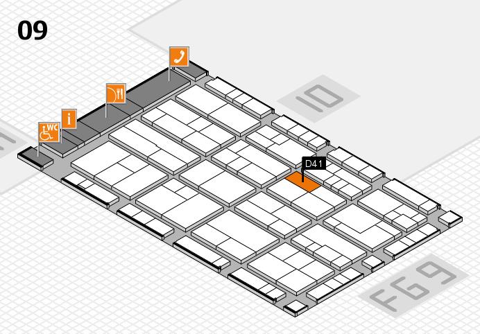 K 2016 hall map (Hall 9): stand D41