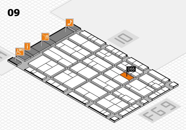 K 2016 hall map (Hall 9): stand D55