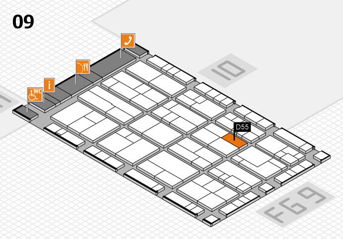 K 2016 Hallenplan (Halle 9): Stand D55