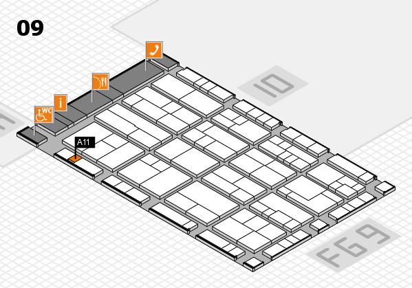 K 2016 hall map (Hall 9): stand A11