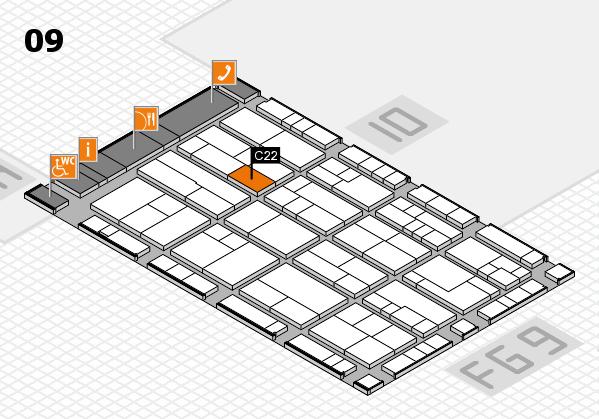 K 2016 hall map (Hall 9): stand C22