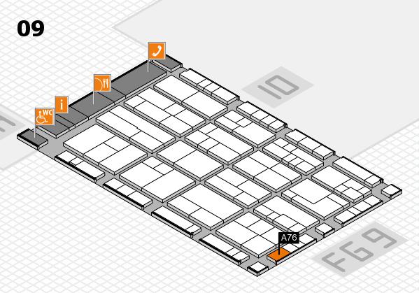 K 2016 hall map (Hall 9): stand A76