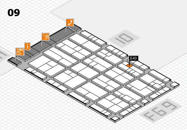 K 2016 hall map (Hall 9): stand E43
