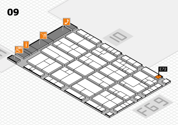 K 2016 hall map (Hall 9): stand E72