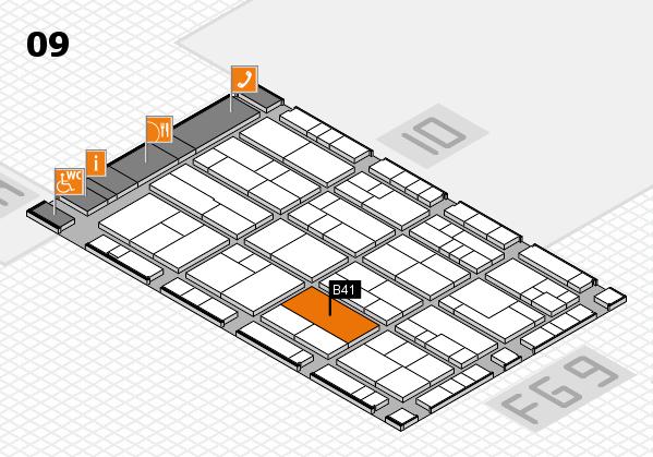 K 2016 hall map (Hall 9): stand B41