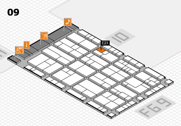 K 2016 hall map (Hall 9): stand E23