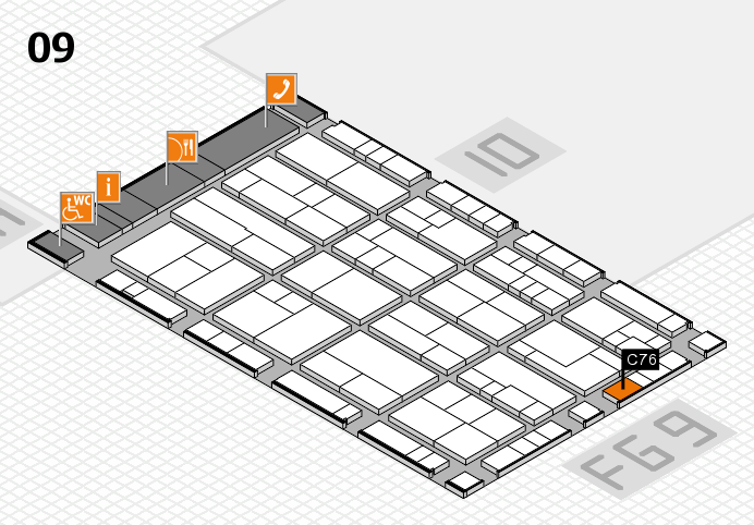 K 2016 hall map (Hall 9): stand C76